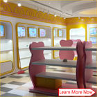 Costomized wooden no smellless painting nice colorful baby stores with lighting fornecedor