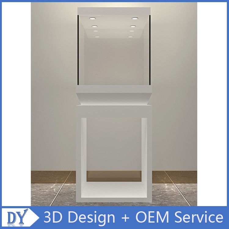Manufacturer wholesale custom made white color glass display cases for museums fornecedor