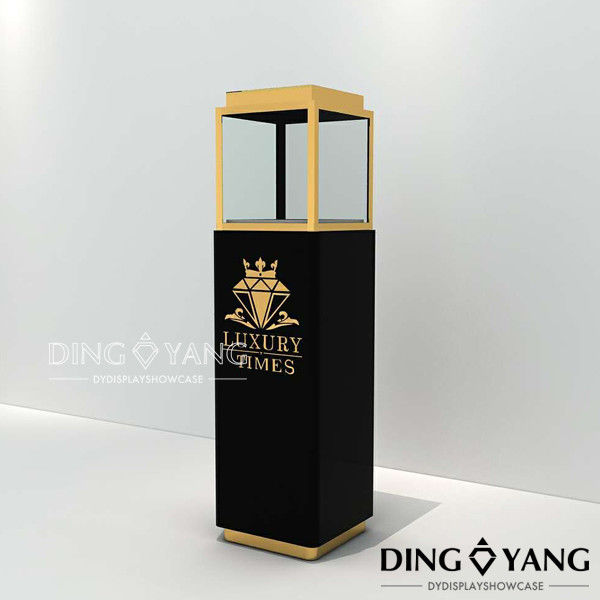 Lockable 450x450x1350mm Museum Display Cabinets