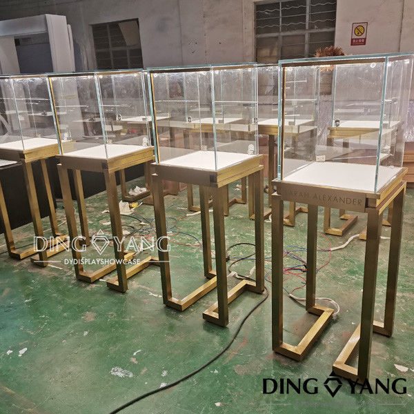 Lockable 450X450X1350MM Store Jewelry Display Cases